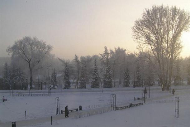 Студенческий городок Пермского университета зимой