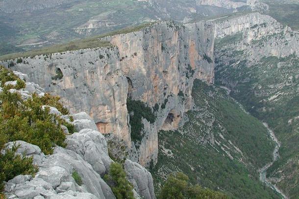 Вердонское ущелье, скалы