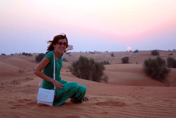 В пустыне недалеко от Шарджи, ОАЭ