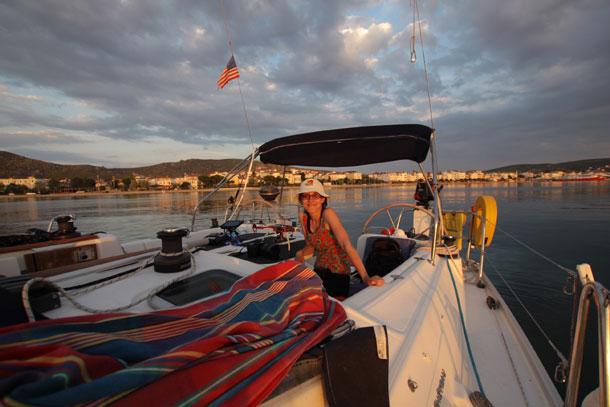 На яхте у берегов Мраморного моря