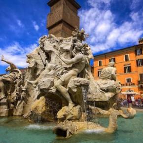 Фонтан Четырёх рек в Риме