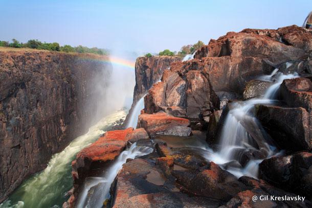 Ручейки водопада Виктория, Замбийская сторона