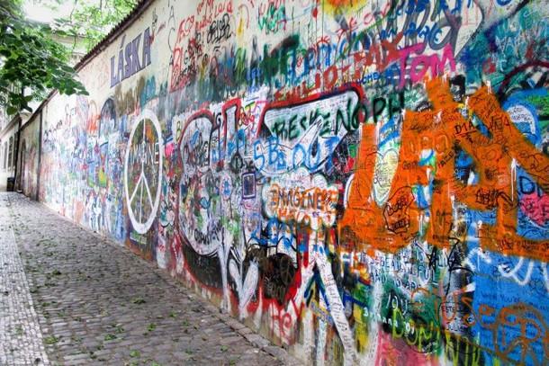 Остров Кампа, стена Джона Леннона