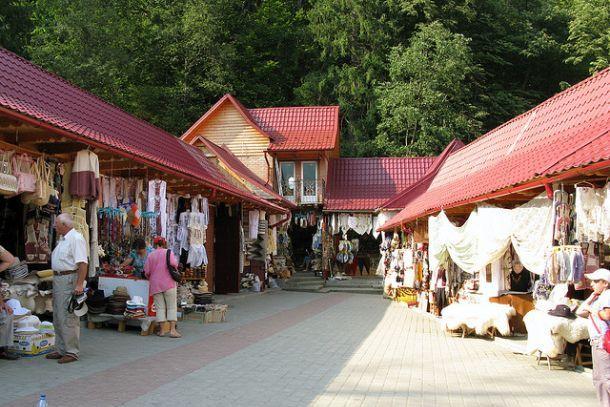 Базар в Яремче