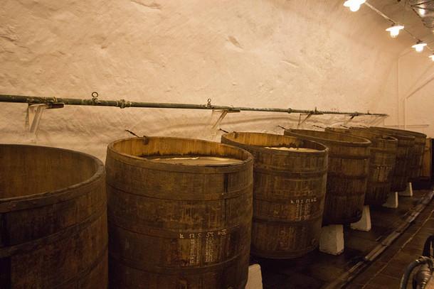 Пивоваренный завод, бочки, Пльзень