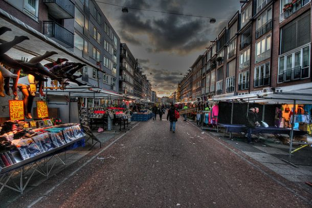 Рынок Альберта Кейпа в конце дня