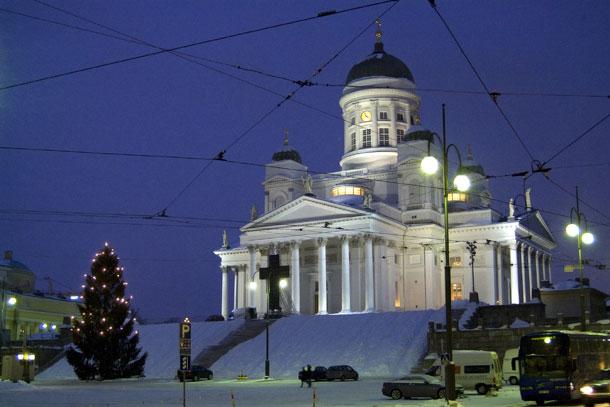 Хельсинки, Николаевский собор на Сенатской площади