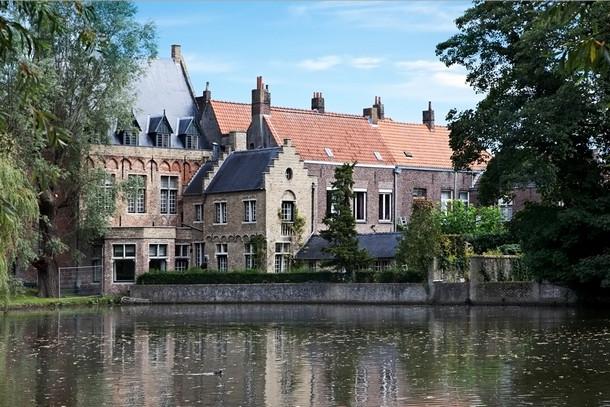 Озеро любви в Брюгге, Бельгия