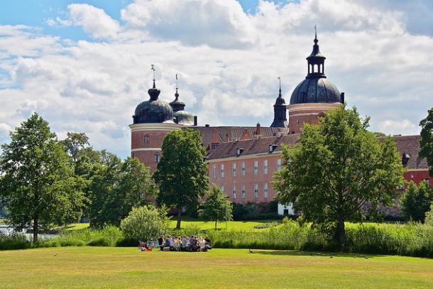 Вид на замок Грипсхольм