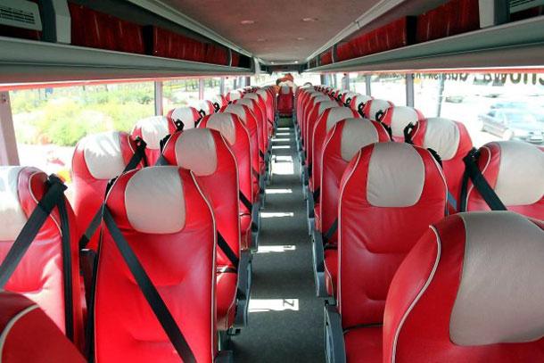 Внутри автобуса PolskiBus