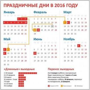 Как отдыхаем в 2016 году: календарь