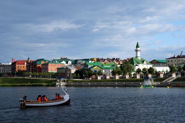 Казань, вид на озеро Кабан и Старо-татарскую слободу