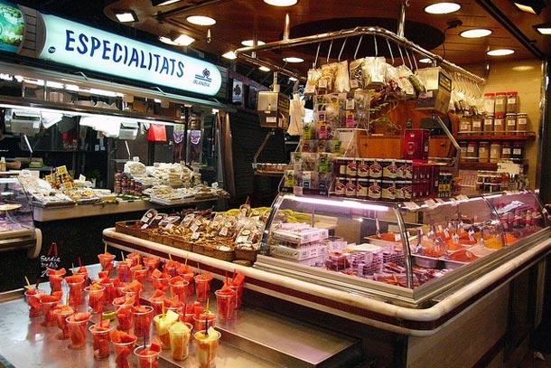 внутри рынка Бокерия