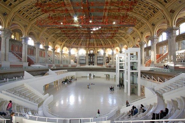 Национальный дворец Барселоны, панорама внутри