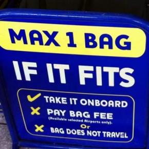 Ryanair: перевозка небольшого туристического рюкзака в ручной клади